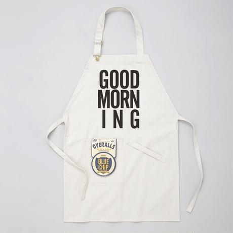 GOOD MORNING STAFF APRON  -WHITE-