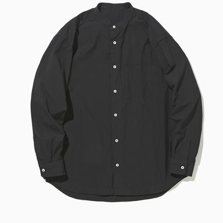 LIAM BAND COLLAR SHIRT -BLACK-