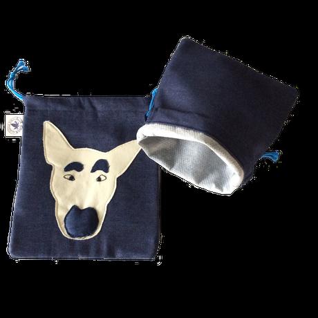 うんプップ💩袋/内側には消臭布(特殊活性炭入不織布)を使用