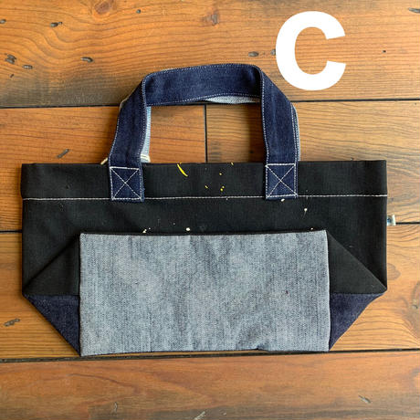 RANDOM DENIM TOTE BAG 【small】/ AC24
