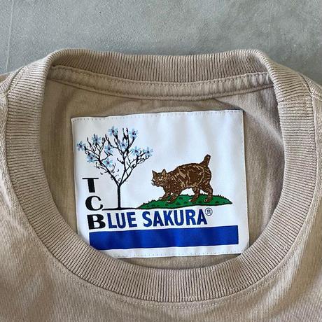"T.C.B×BLUE SAKURA Collaboration T-SHIRT ""LOGO""【BEIGE】/ TCB*BS-CS03-BG"