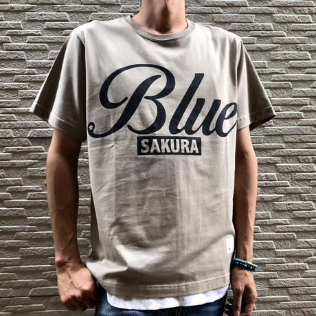 "BASIC T-SHIRT  ""BIG BLUE-2"" 【BEIGE】/ BS-S4-CSP04-BEG"