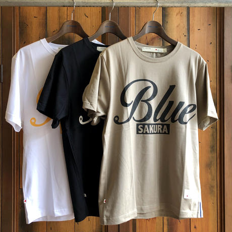 "BASIC T-SHIRT  ""BIG BLUE-2"" 【BEIGE】/ BS-S4-CSP04-BEG"