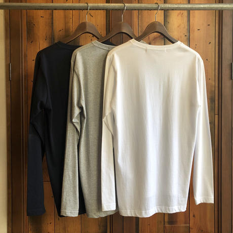 LONG SLEEVE POCKET T-SHIRT 【WHITE】/ BS-LCS3