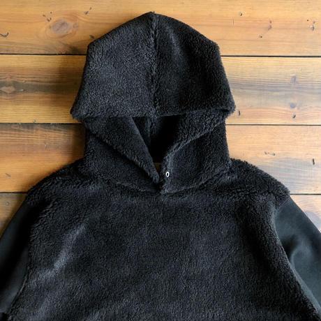 BOA COMBI HOODIE【BLACK × BLACK】  / BS-SW06-BK