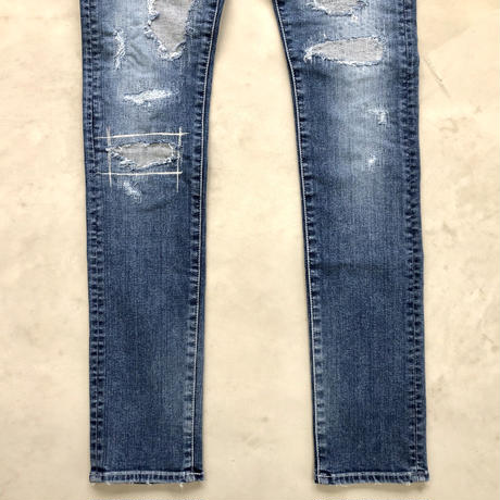 405XXF SUPER BONE USED HARD.【INDIGO】 / BS-DP37