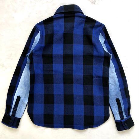 CLASSIC VINTAGE CHECK SHIRT【BLUE】 / BS-S4-SH01-BL
