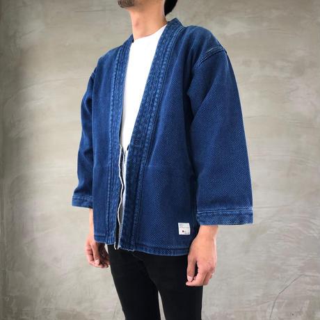 """DENTO"" KIMONO SASHIKO ""Long Sleeve""【INDIGO】 - BS-DNT-SW03-IND"