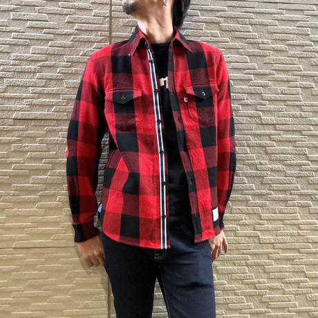 CLASSIC VINTAGE CHECK SHIRT【RED】 / BS-S4-SH01-RE