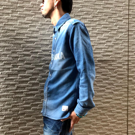 KNIT DENIM SHIRT USED / RSH01