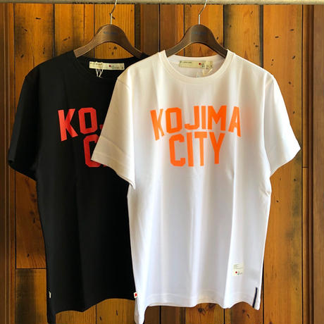 KOJIMA CITY PRINT T-SHIRT 【WHITE-ORANGE】/ BS-CSP1-wh-or