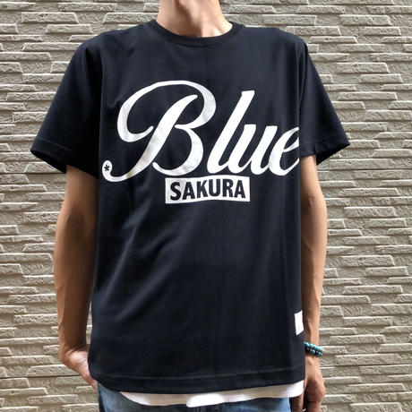 "BASIC T-SHIRT  ""BIG BLUE-2"" 【BLACK】/ BS-S4-CSP04-BK"