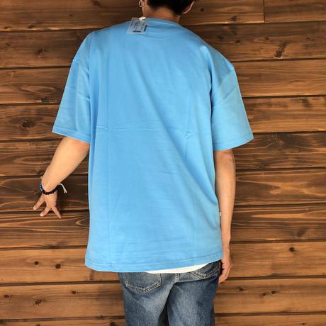 "BIG  T-SHIRT ""LOGO C""【SAX-WHITE】/ BS-BCSP02-SAX-WH"