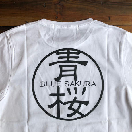 "BASIC T-SHIRT  ""AOSAKURA""【WHITE】/ BS-S3-CS1-02-WH"
