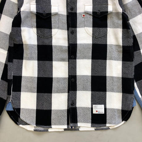 CLASSIC VINTAGE CHECK SHIRT【WHITE】 / BS-S4-SH01-WH