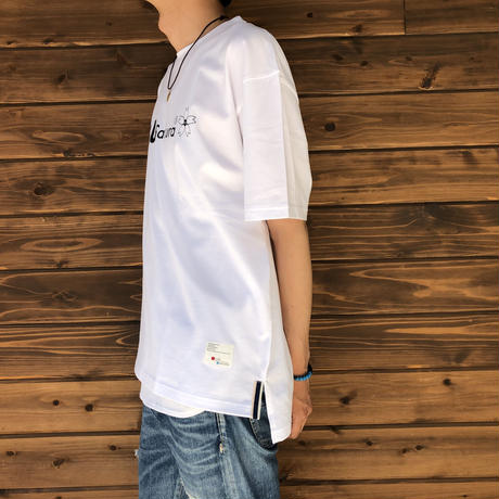 "BIG  T-SHIRT ""LOGO C""【WHITE-BLACK】/ BS-BCSP02-WH-BK"