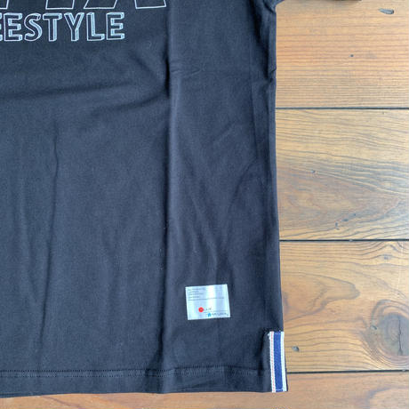 BMX × BLUE SAKURA BASIC T-SHIRT 【BLACK】/ BS-CPS-BMX01-BK