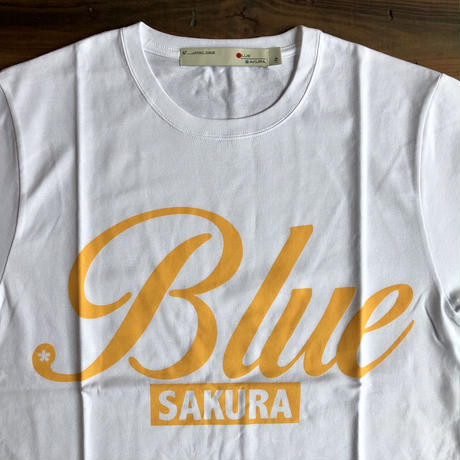 "BASIC T-SHIRT  ""BIG BLUE-2"" 【WHITE】/ BS-S4-CSP04-WH"