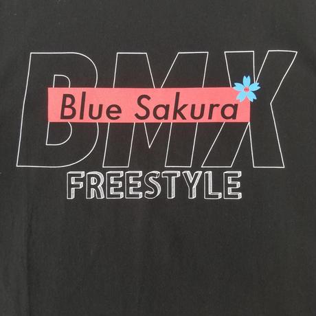 BMX × BLUE SAKURA BASIC T-SHIRT 【BLACK】/ BS-CSP-BMX01-BK
