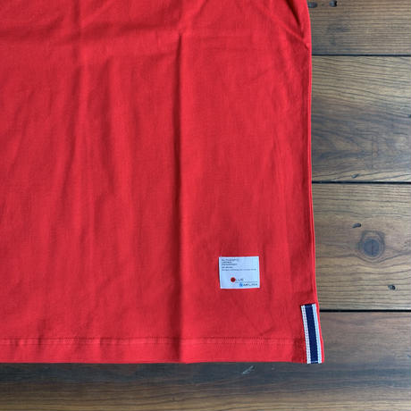 "BASIC T-SHIRT  ""G-PAN"" 【RED-BLACK】/ BS-S4-CSP01-red-bk"