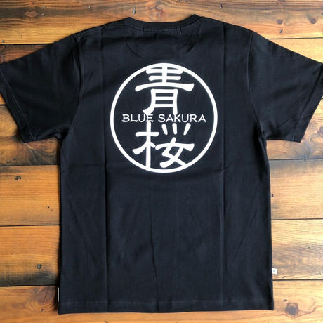"BASIC T-SHIRT  ""AOSAKURA""【BLACK】/ BS-S3-CS1-02-BK"