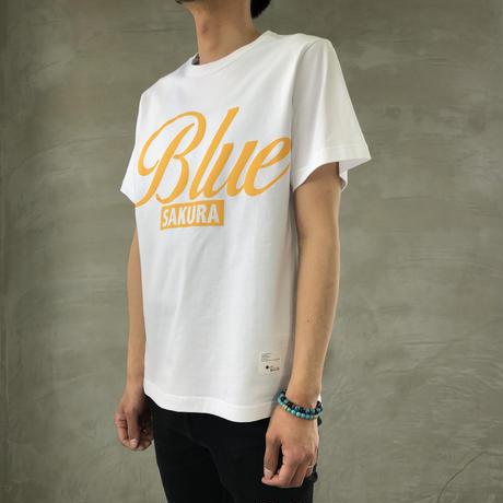 "BASIC T-SHIRT  ""BIG BLUE-2"" 【WHITE】/ BS-S4-CSP04-WH"
