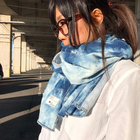 KNIT DENIM STOLE 【CRASH】/ AC23