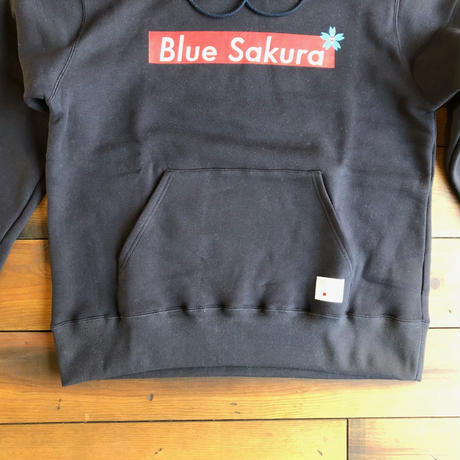 "CLASSIC VINTAGE HOODIE ""BOX-LOGO""【NAVY】  / BS-SW01-01-NV"
