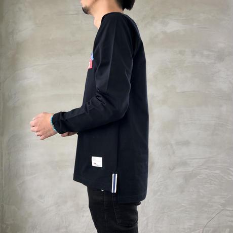 "STEP L/S T-SHIRT ""BOX-LOGO""【BLACK】/ BS-LCSP03-01-BK"