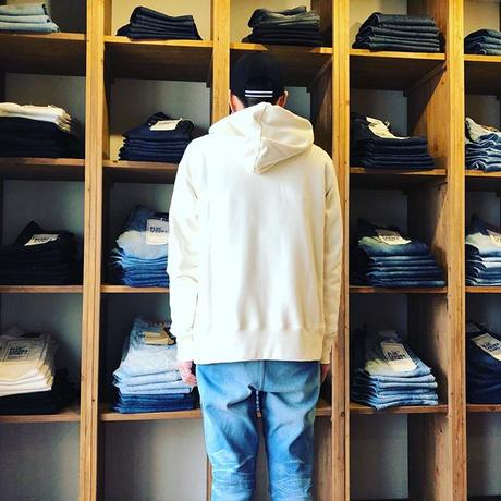 "CLASSIC VINTAGE HOODIE ""BIG BLUE"" 【WHITE】  / BS-SWP04-WH"