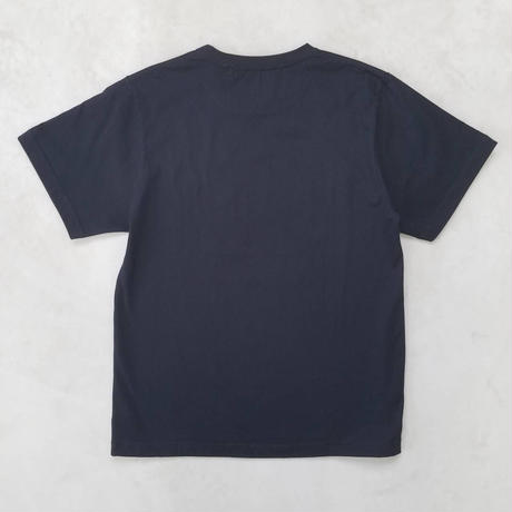 "BASIC T-SHIRT  ""BIG BLUE-2"" 【BLACK】/ BS-S4-CSP04-BK"