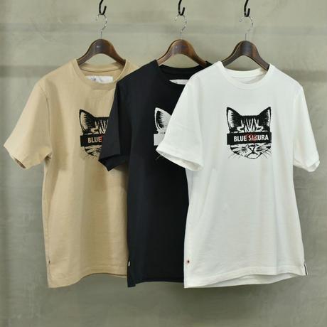 "T.C.B×BLUE SAKURA Collaboration T-SHIRT ""CAT""【BLACK】/ TCB*BS-CS02-BK"