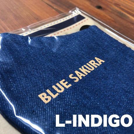 BLUE SAKURA DENIM MASK / BS-AC34