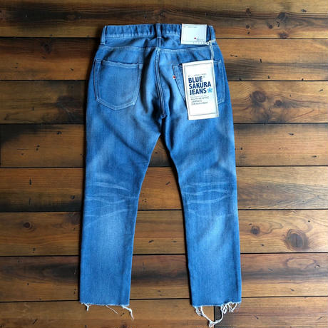 403XXD LEAN KNIT DENIM PANTS cut off / BS-S2-RDP03