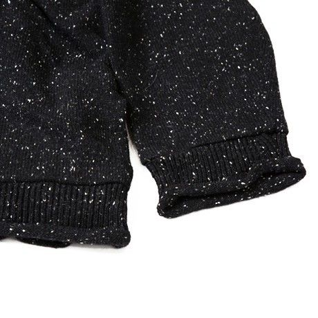 JAZZ NEPP WOOL SWEATER /  BLACK / 14B19KN15KG