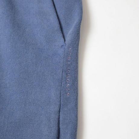 PIGMENT DYED HEAVY JERSEY PANTS / BLUE / 15B20PA12FB