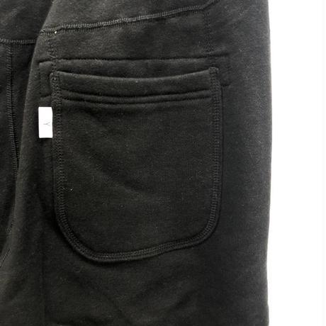 LOOPWHEEL SWEAT SHORTS / BLACK / 07B16PA02FB