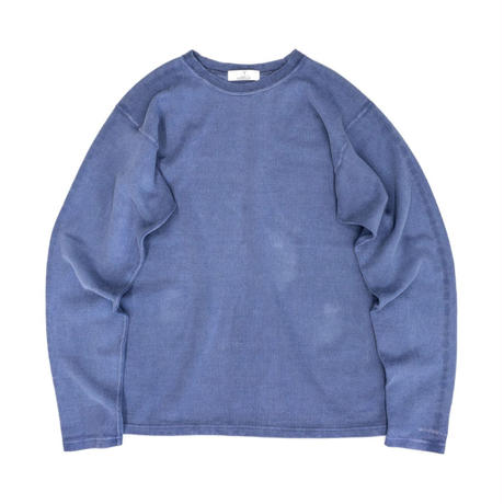 PIGMENT DYED HEAVY JERSEY PULLOVER / BLUE / 15B20CN11FB