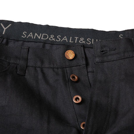 CROPPED TAPARED JEANS / BLACK / 15B20PA05SI