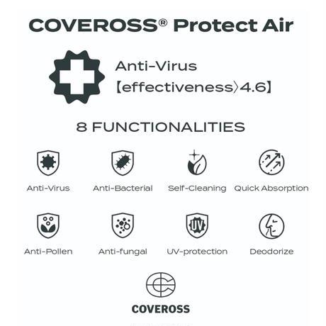 【カバロスウィザード真夏用限定モデル】COVEROSS PROTECT AIR  FACE MASK / GRAY