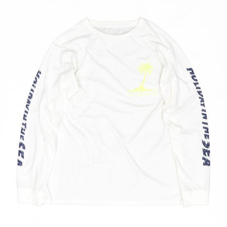 HOLIDAY IN THE SEA L/S TEE / OFF×YELLOW / 15B20TS18FB