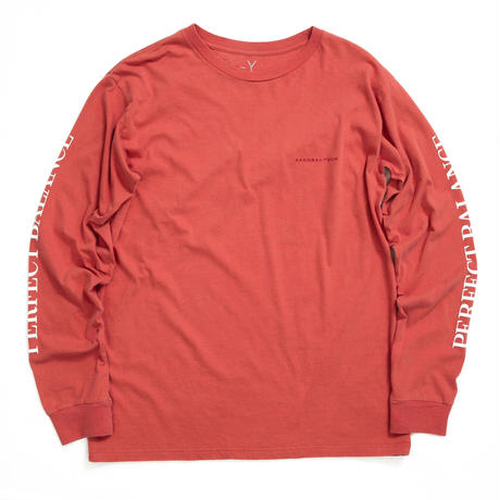 PERFECT BALANCE L/S TEE / RED  / 13B19TS30FB