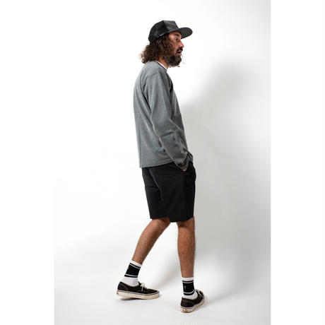 PIGMENT DYED HEAVY JERSEY PULLOVER / CHARCOAL / 15B20CN11FB
