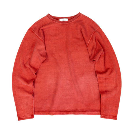 PIGMENT DYED HEAVY JERSEY PULLOVER / RED / 15B20CN11FB