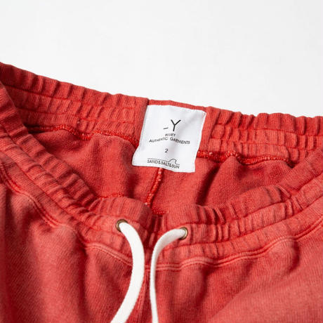 PIGMENT DYED HEAVY JERSEY PANTS / RED / 15B20PA12FB
