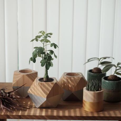Wood pot  Silver ウッドポット