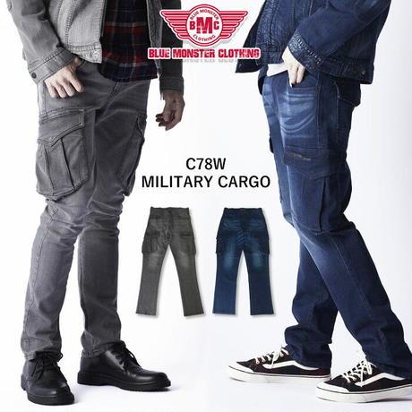 BMC MILITARY CARGO REBEL BLACK & MIDNIGHT / C78W