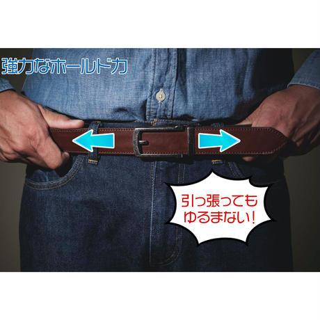 (日本製牛革ベルト・ライダー用ベルト)「調整自由自在」「脱着らくらく」BMC 俺だけフィット本革ベルト:WBLT78A-21S75 BROWN