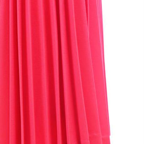 ジョーゼットプリーツスカート  c/#RED  75436-114