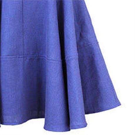 リネンツイードフレアワンピース  c/#BLUE  55344-105